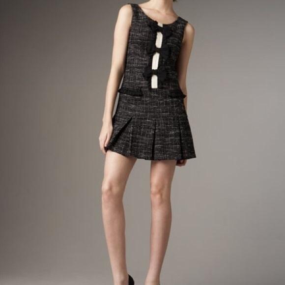 5e5464d05 Anthropologie Dresses | Nanette Lepore Black Bow Tweed Dorothy Mini ...